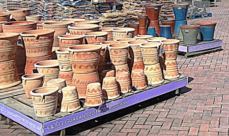 Moulded clay pots