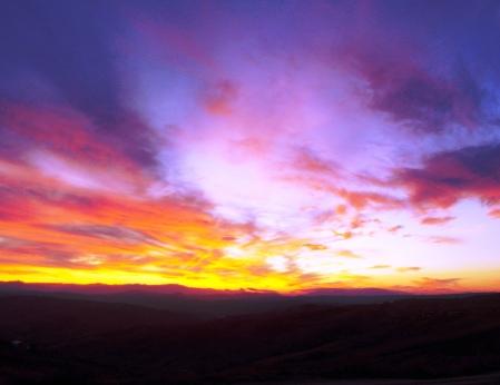Nature scene of colourful sky
